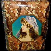 Celluloid Photo Album with Gypsy Lady