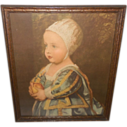Vintage Print of Baby Stuart by Anthony Van Dyck