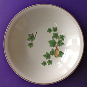 Mid Century Paden City Pottery 'English Ivy' Fruit Bowl with Matching Plate