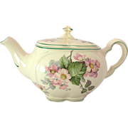 Edwin Knowles 'Gloria' Pink Apple Blossoms 1930s Teapot and Vegetable Bowl