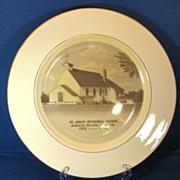 St. John's Episcopal Church AuSable-Oscoda Michigan 1960s Homer Laughlin Commemorative Plate
