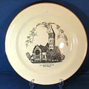 First Methodist Church Albion Michigan 1950s Homer Laughlin Commemorative Plate