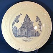 First Methodist Church Kankakee Illinois 1950s Homer Laughlin Theme Commemorative Plate