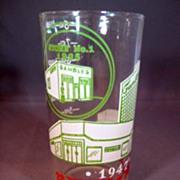 Gambles Department Store 1947 Advertising/Measuring Glass Celebrating 22 Years of Progress