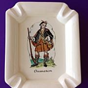 Scotsman Cameron Clan Ashtray Plichta London England