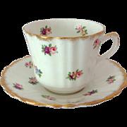 Royal Stuart Bone China by Spencer Stevenson Rosebuds Tea Cup and Saucer