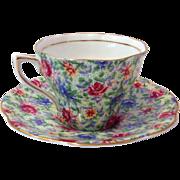 Rosina Chintz 5042 English Bone China Tea Cup and Saucer