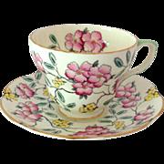 Foley Bone China Springdale Pink Floral Tea Cup and Saucer