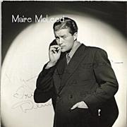 Actor DENNIS MORGAN Inscribed & Autograph Sexy 1940's Photo