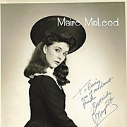 Actress MARGARET O'BRIEN 40's Signed & Inscribed Photo