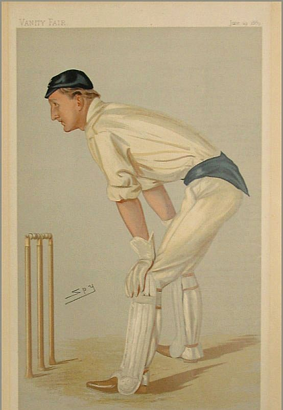 "Original Vanity Fair Print - Oxford Cricket by Spy -Hylton ""Punch"" Philipson"