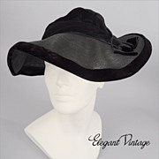 Art Deco 1930's Chic Slouch Hat *Shapeable Style