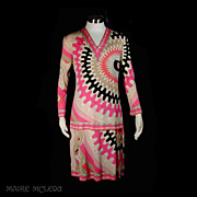 Emilio Pucci 2 pc Skirt & Top 1960s *Silk Jersey