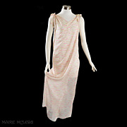 1960's Princess Irene Galitzine Silk Goddess Gown / Hostes Gown