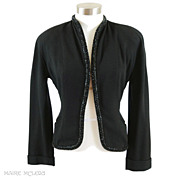 Very Chic Beaded 1940's Womens Jacket *Harzfeld's *S