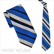 """1970's Yves Saint Laurent Men's Tie - Bright Colors 4"""""""