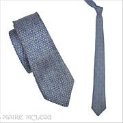 "1950's Bronzini Silk Mens Tie, Blue   2-1/2"""