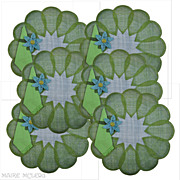 1960s Flower Power Straw Placemat Set w/ Napkins/Holders 1 of 2