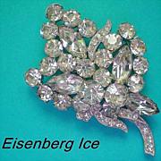 Eisenberg Ice Floral Bouquet Brooch
