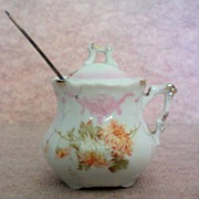 German Porcelain Mustard / Jam Pot