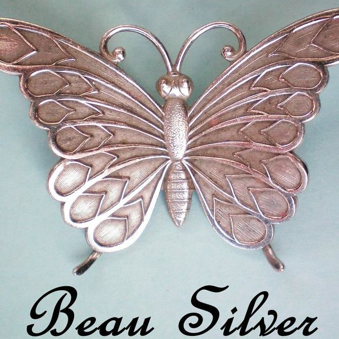 Sterling Silver Butterfly Pin by Beau