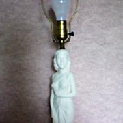 Art Nouveau Statue of Lady ~ Figural Lamp