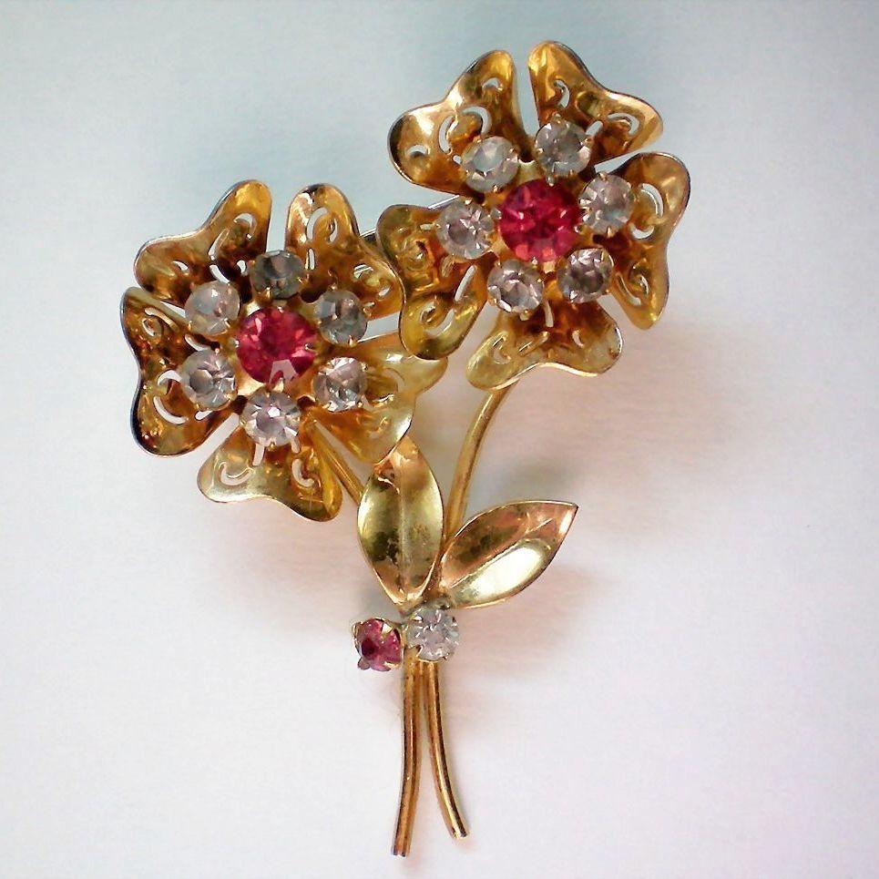 Book Piece Replica Floral Pin