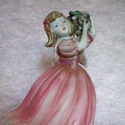 Boudoir Figural Lamp ~ Girl with Basket