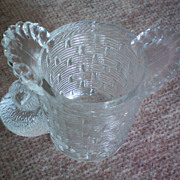 Wright Glass Little Chick Clear Glass Toothpick Holder
