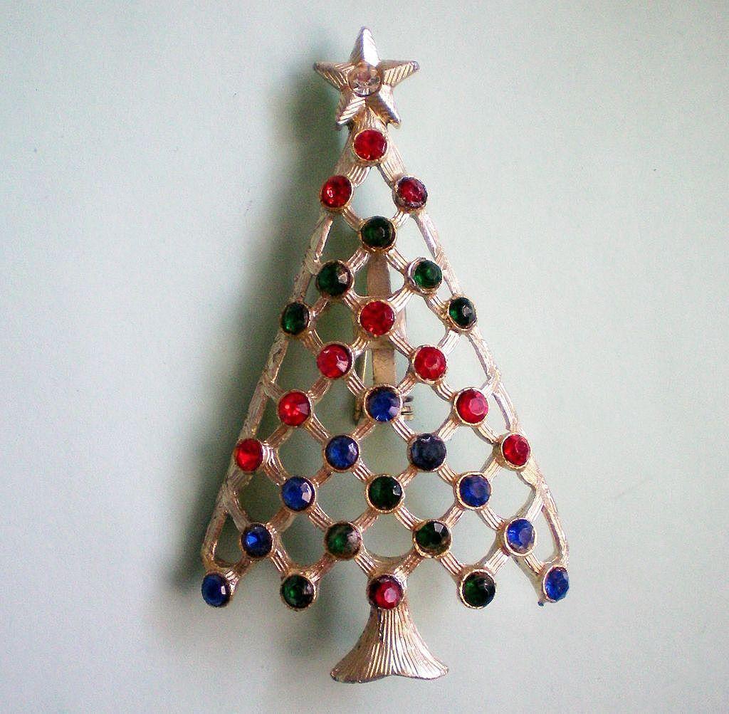 Christmas / Holiday Tree with Rhinestone Decorations