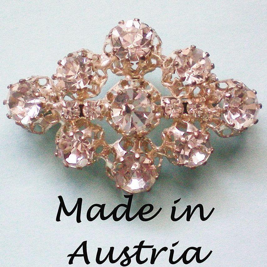 Foil Backed Austrian Crystal Brooch
