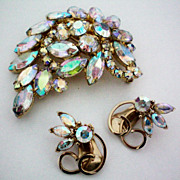 Kramer Earrings with Matching Brooch