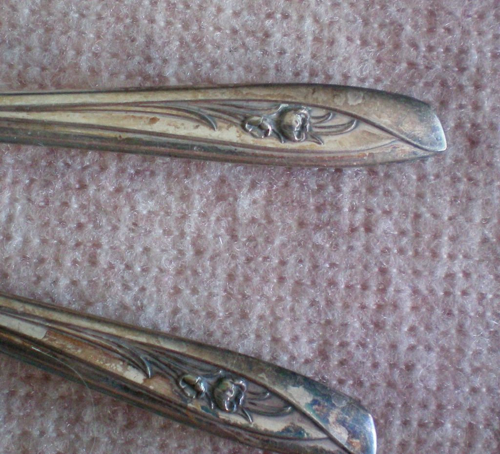 I S Silver Company Silver Tulip Teaspoons - Set of Four