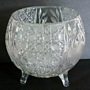 American Brilliant Period Footed Rose Bowl