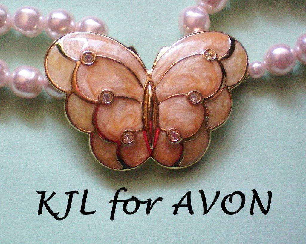 KJL for Avon Papillon Enamel Butterfly Necklace