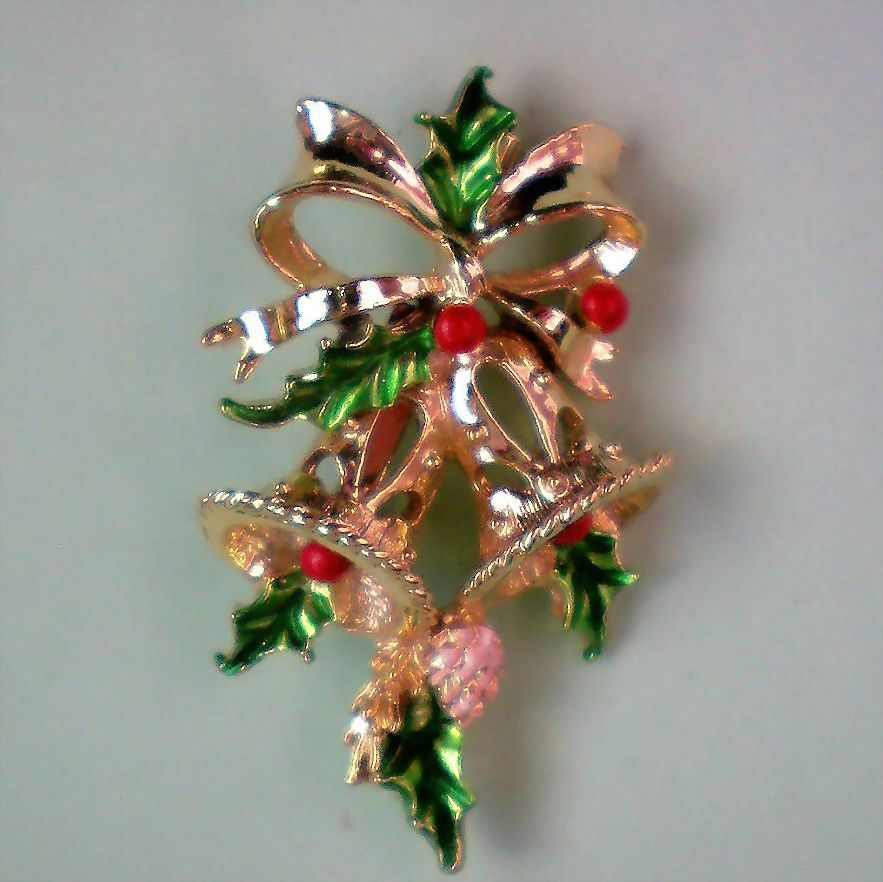 Holiday / Christmas Bells Pin by Gerry's