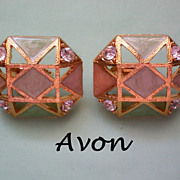 Avon Geometric Clip Earrings