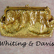 Whiting & Davis Gold Mesh Bag / Purse