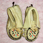 Child's Leather Indian Moccasins