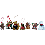 Ceramic Bears Christmas Tree Ornaments