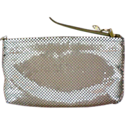 Large Gold Metal Mesh Shoulder Bag / Purse