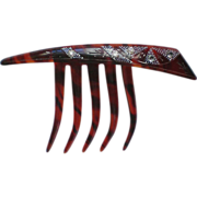 Cellulose Hair Comb with Rhinestone Accents