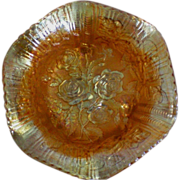 Imperial Glass Amberina Luster Rose Footed Bowl