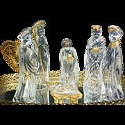 German Crystal Nativity Scene Set by Gorham