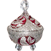 Hofbauer Byrdes Footed and Covered Candy Dish