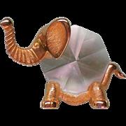 Crystal and Brass Elephant Knicknack