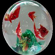 Dynasty Gallery Glass Paperweight Fish Aquarium