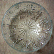 Large Cut Glass Bowl