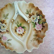 Hand Painted Porcelain Nappy or Lemon Dish