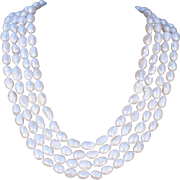 """100"""" Long Hand-Knotted Baroque Cultured Freshwater Pearl Necklace"""